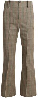 Balenciaga Prince of Wales-checked cotton trousers