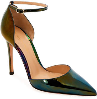 Gianvito Rossi Patent holographic d'Orsay Ankle Pumps