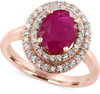 Effy Amore by Certified Ruby (1-9/10 ct. t.w.) and Diamond (3/8 ct. t.w.) Ring in 14k Rose Gold, Created for Macy's