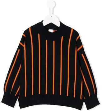 Tiny Cottons striped mock neck sweater
