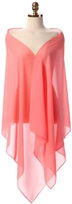 RMDress Chiffon Bridal Wedding Shawl Wrap Women's Evening Dress Stole Scarves (20050cm, )