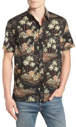 J.Crew Wallace & Barnes Regular Fit Tropical Print Sport Shirt