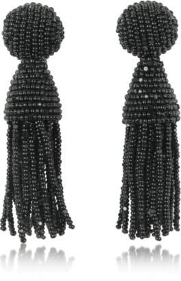 Oscar de la Renta Classic Short Tassel Clip-On Earrings