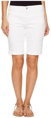 NYDJ Petite Petite Briella Roll Cuff Shorts in Optic White