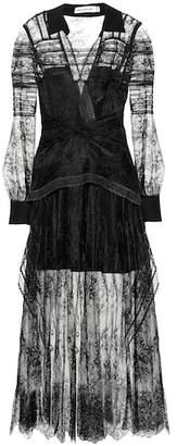Self-Portrait Lace shirt dress