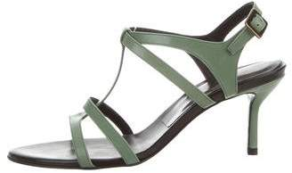 Roger Vivier Leather Ankle-Strap Sandals
