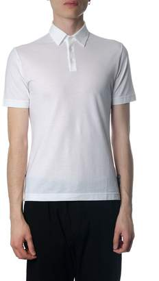 Zanone Short-sleeved White Cotton Polo Shirt