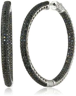 Black Spinel Hoop Earrings Shopstyle