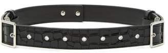 Altuzarra Underwood Buckled Crocodile Effect Leather Belt - Womens - Black