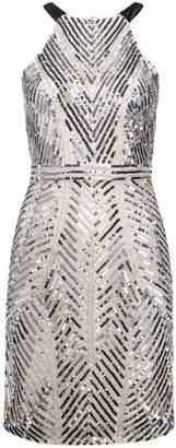 Aidan Mattox shimmer short dress