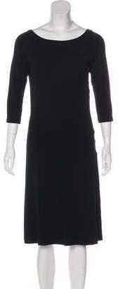 Narciso Rodriguez Three-Quarter Sleeve Midi Dress