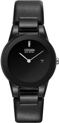 Citizen Eco-Drive Axiom Womens Black Leather Strap Watch GA1055-06E