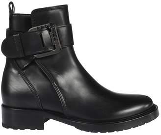 Lanvin Embellished Buckle Ankle Boots
