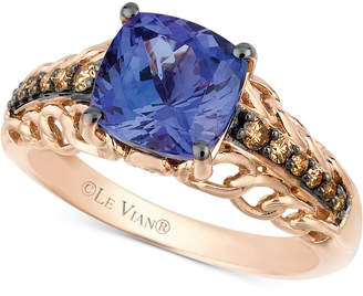 save tw vian w pink t rose gold jewelry ring diamond lyst ct in tanzanite and le