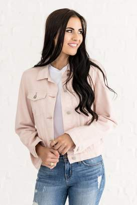 Everyday ShopRachel Parcell Dusty Pink Denim Jacket