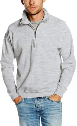"Fruit of the Loom Mens Premium 70/30 Zip Neck Sweatshirt (L (Chest 41-43""))"