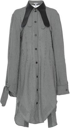 Loewe Leather Collar Long Sleeve Shirt