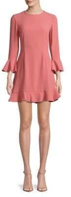 Jill Stuart Ruffled Bell-Sleeve Dress