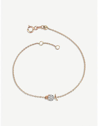 Rosegold The Alkemistry Kismet by Milka 14ct rose-gold and diamond Virgo bracelet