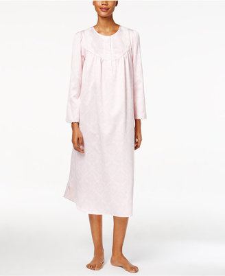 Miss Elaine Lace-Trimmed Printed Nightgown $60 thestylecure.com