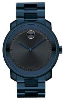 Movado Men's Bold Blue IP Stainless Steel Bracelet Watch - Dark Blue