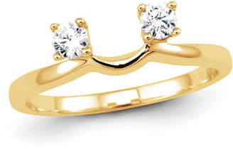 Zales 1/4 CT. T.W. Diamond Two Stone Solitaire Enhancer in 14K Gold