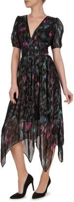 The Kooples Ikat-Print Fit--Flare Dress