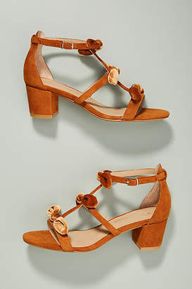 Anthropologie T-Strap Bow Heels