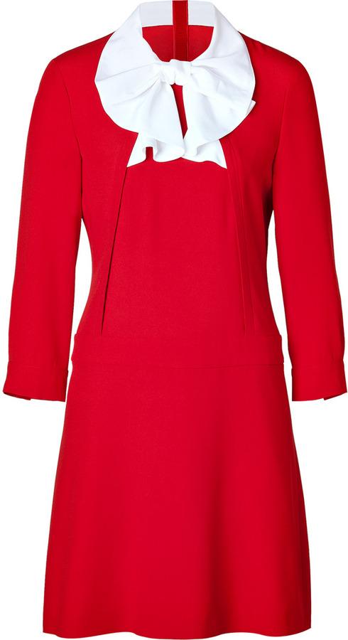 Moschino Tie Neck Dress