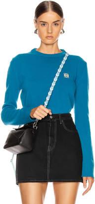Loewe Short Anagram Sweater in Cobalt Blue   FWRD