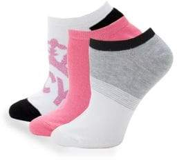 Juicy Couture Three-Pack Classic Ankle Socks