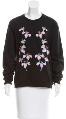 Holly Fulton Floral Embroidered Crew Neck Sweatshirt
