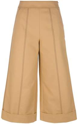 MSGM wide leg cropped trousers