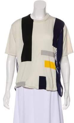Thakoon Colorblock Silk Top