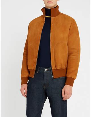 Sandro Suede bomber jacket