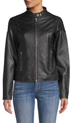 William Rast Leather Biker Jacket