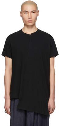 Yohji Yamamoto Black Diagonal T-Shirt