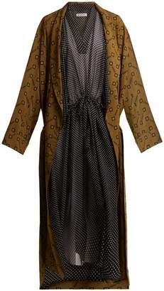 Balenciaga V-neck polka-dot print dress
