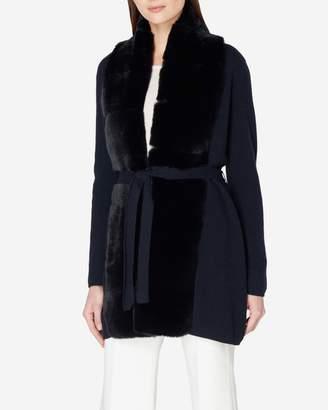 N.Peal Milano Fur Placket Cashmere Jacket