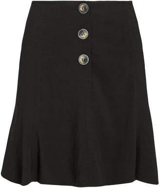 Intermix Galyn Linen-Blend Mini Skirt