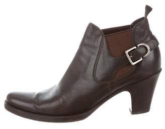 Prada Leather Semi-Pointed Booties