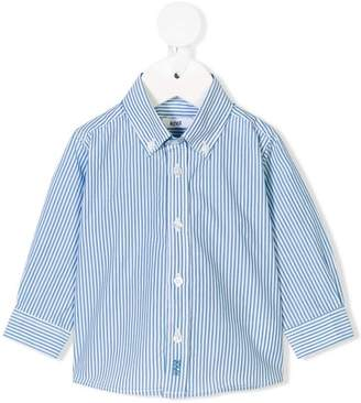 Knot striped button-down shirt