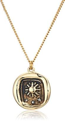 Rachel Roy Womens Talisman Sun Pendant Chain Necklace