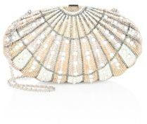 Judith Leiber Shell Crystal Clutch $3,995 thestylecure.com