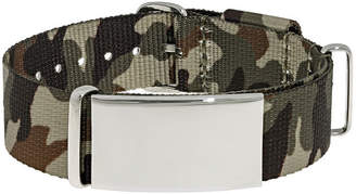 JCPenney FINE JEWELRY Mens Stainless Steel & Brown Camo ID Bracelet