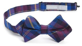 Boy's Nordstrom Plaid Wool & Silk Bow Tie $22.50 thestylecure.com