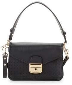 Longchamp Mademoiselle Toile Leather Crossbody Bag