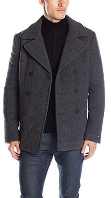 Tommy Hilfiger Tommy Jeans Men's Wool Blend Padded Peacoat