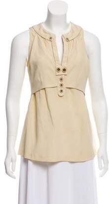 Mayle Sleeveless Silk Top