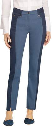 St. John Stretch Denim Color Cropped Pant